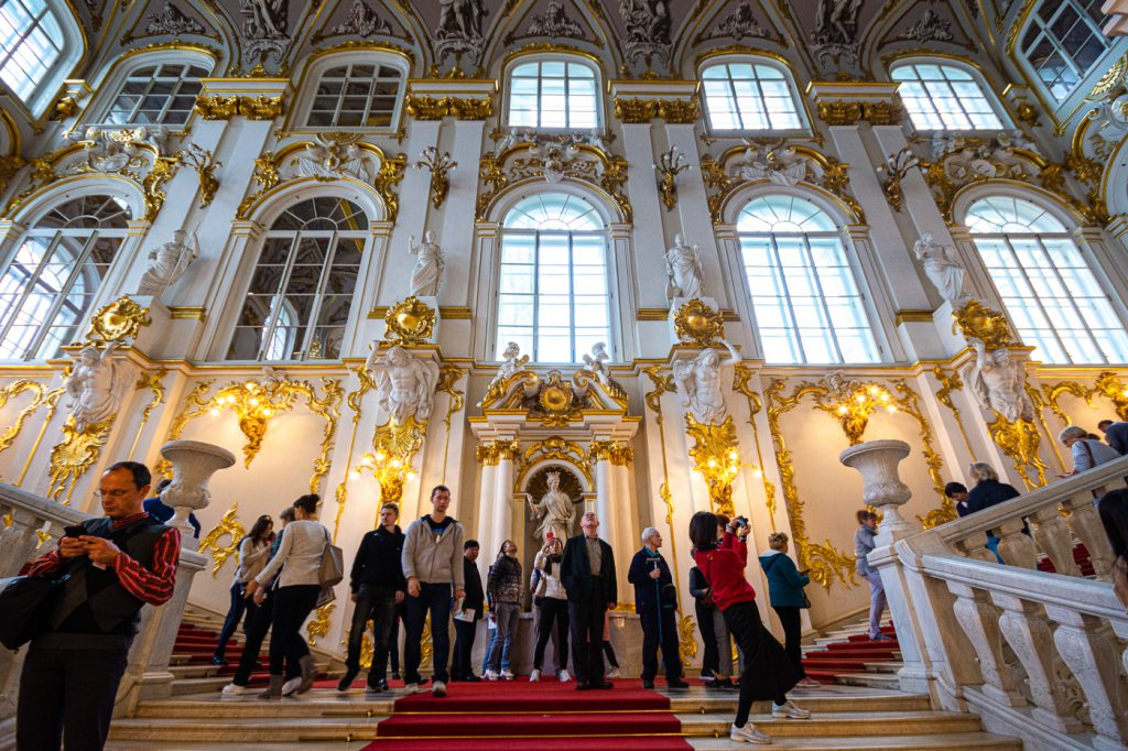 The Jordan Staircase from below, Winter Palace and State Hermitage Museum, St. Petersburg