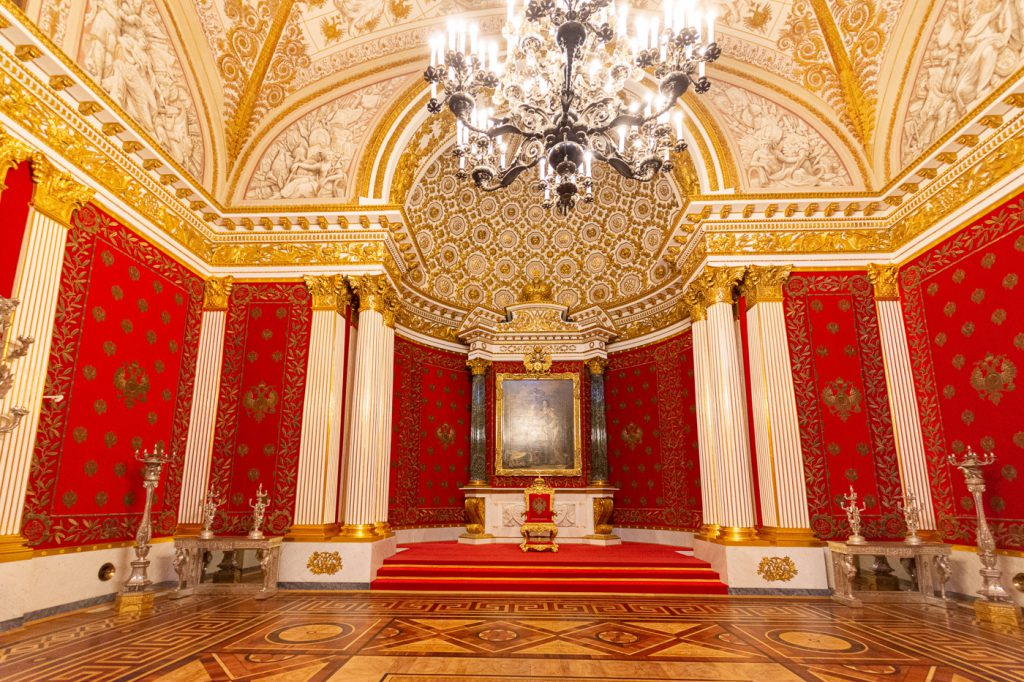 Small Throne Room of the Winter Palace and State Hermitage Museum, St. Petersburg