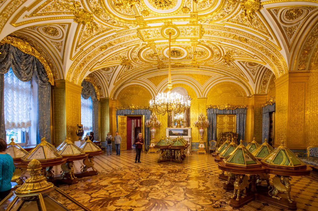 Golden Drawing Room, Winter Palace State Hermitage Museum, St. Petersburg