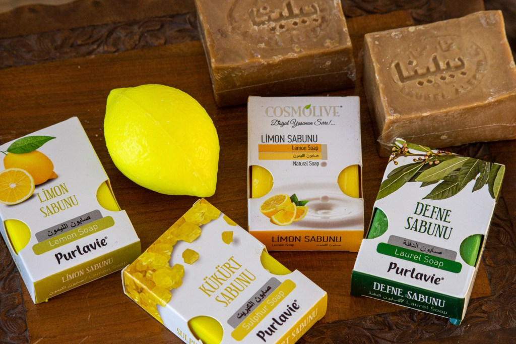 assorted natural soaps - I won't need to buy any soaps for a while