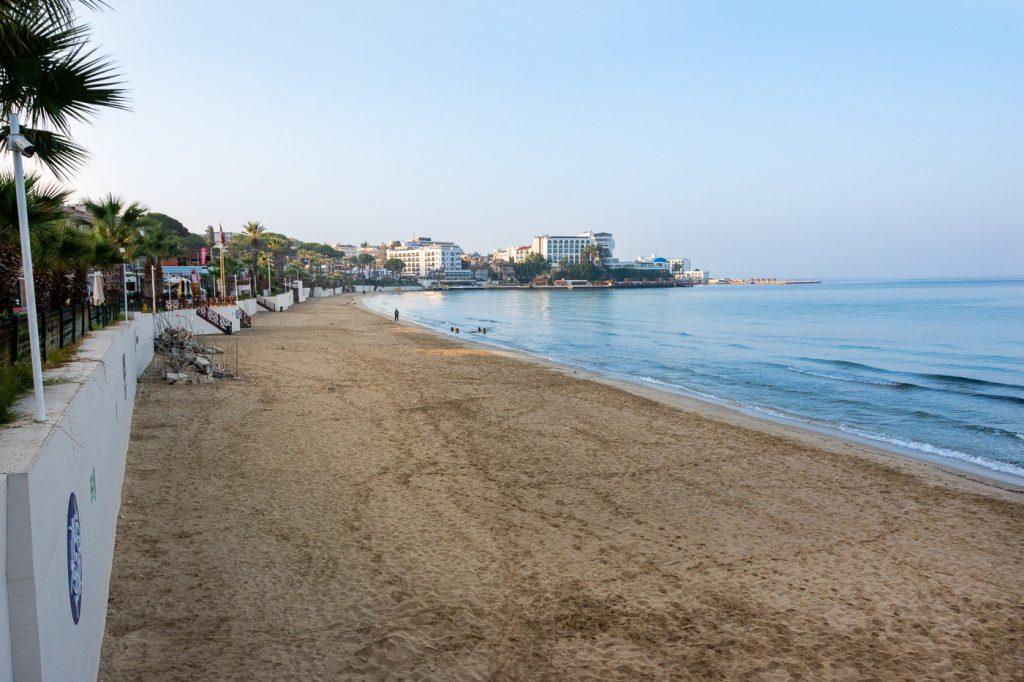 Kusadasi Ladies Beach outside the tourist season