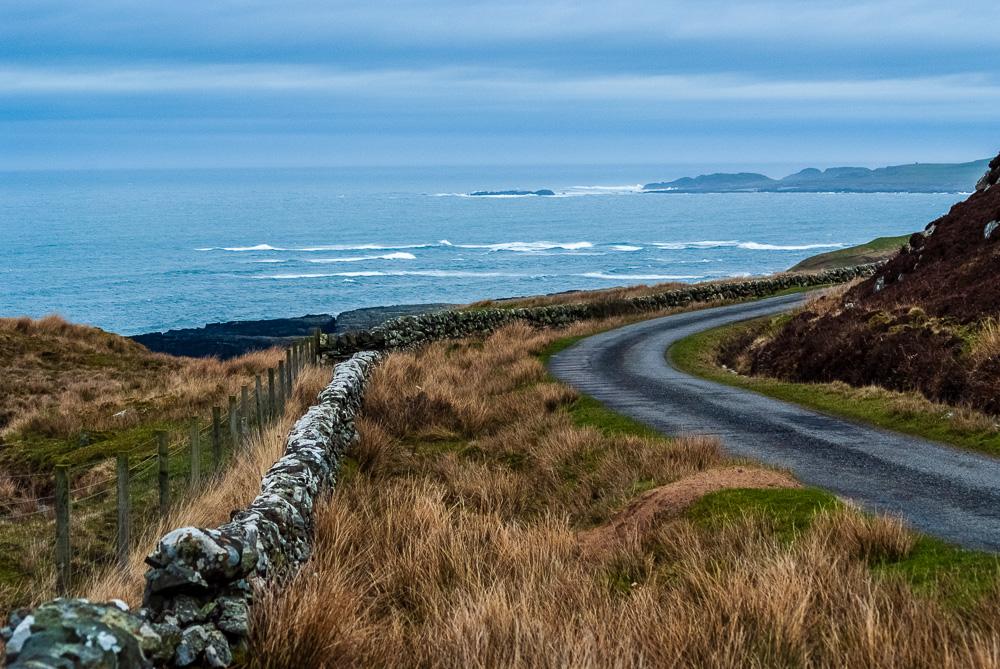 coastal road on Islay