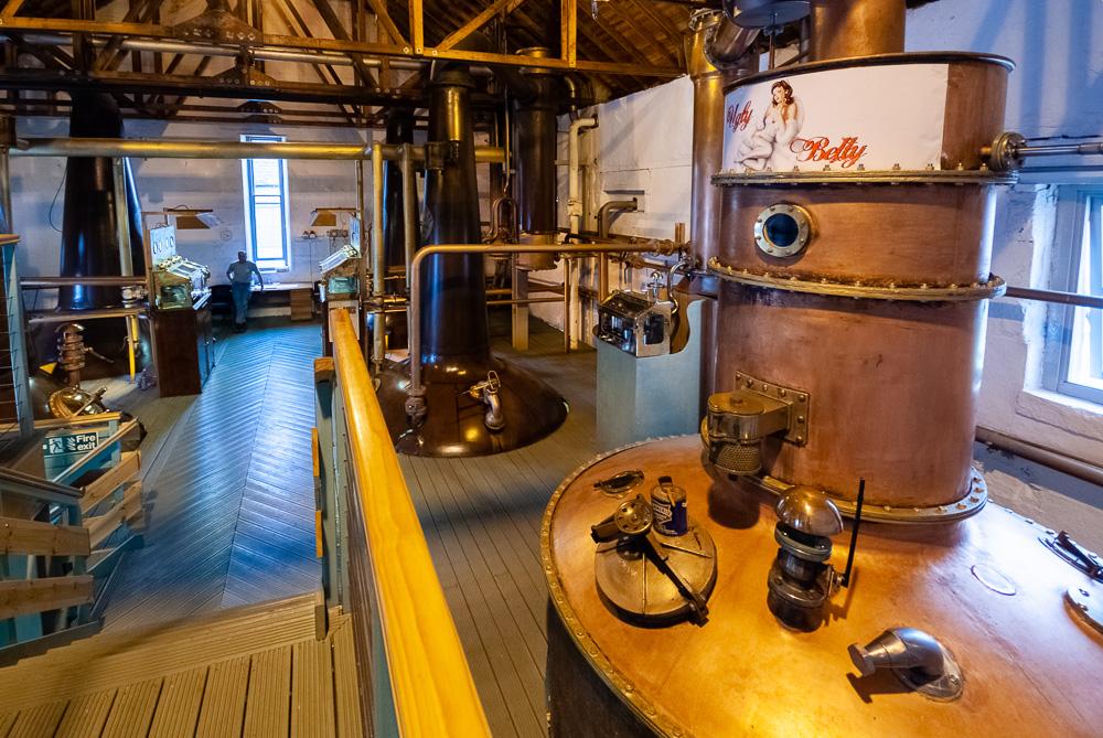 Ugly Betty Still from Loch Lomond at Bruichladdich Distillery