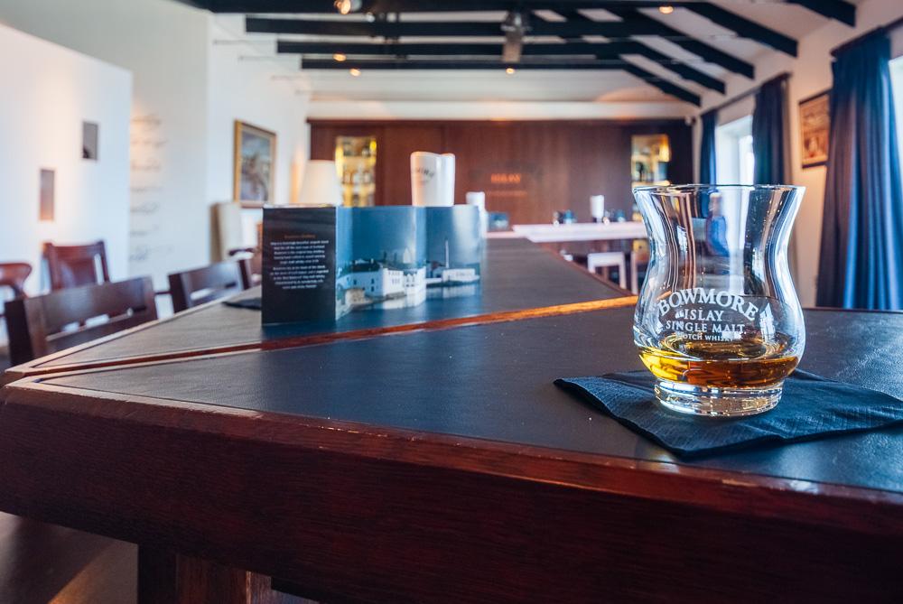 Bowmore whisky glass at Bowmore Distillery