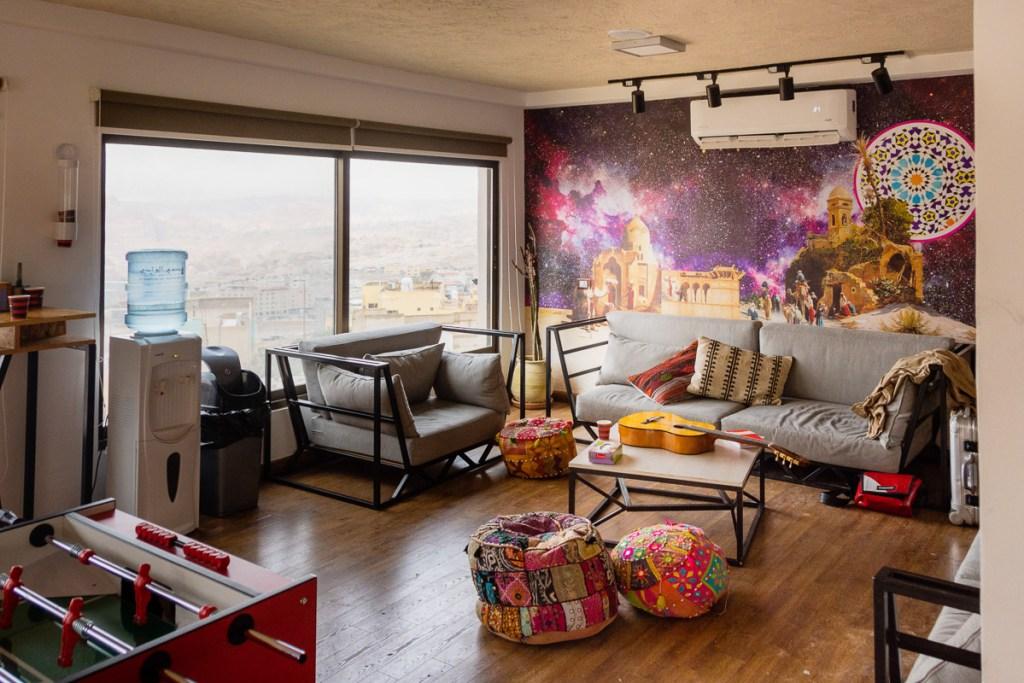 Communal Lounge Area of Nomads Hotel Petra