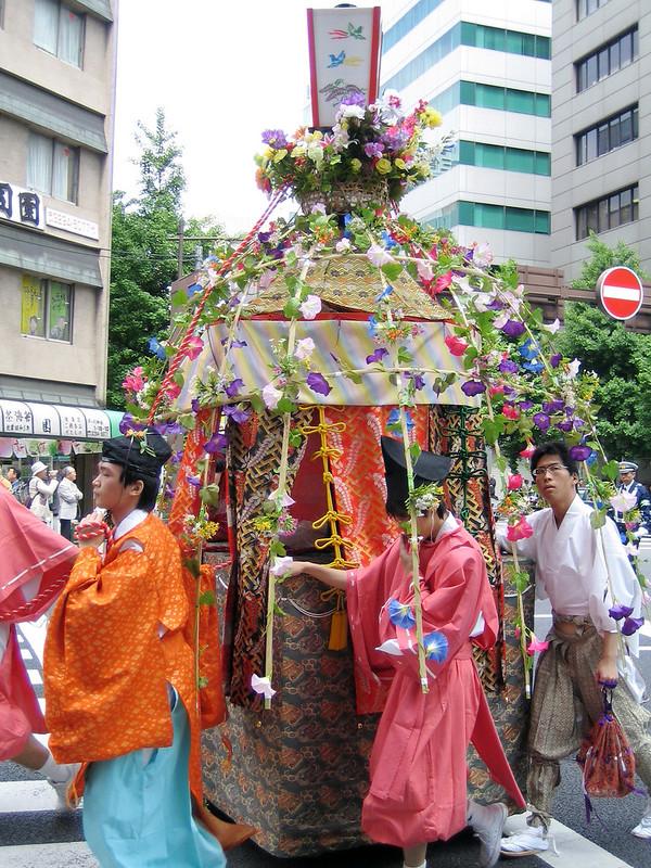 Colourful float at the Kanda Matsuri in Tokyo