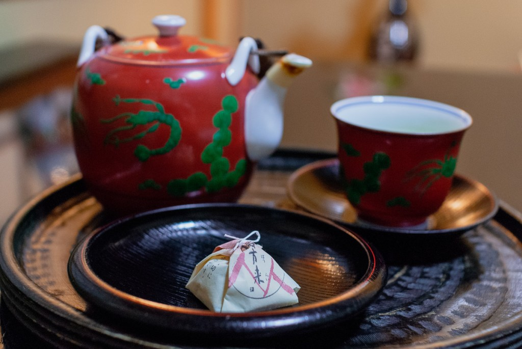 Japanese tea and a traditional Japanese sweet