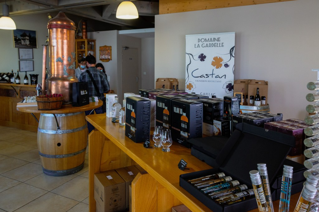 organic French wine and spirits at Castan family distillery