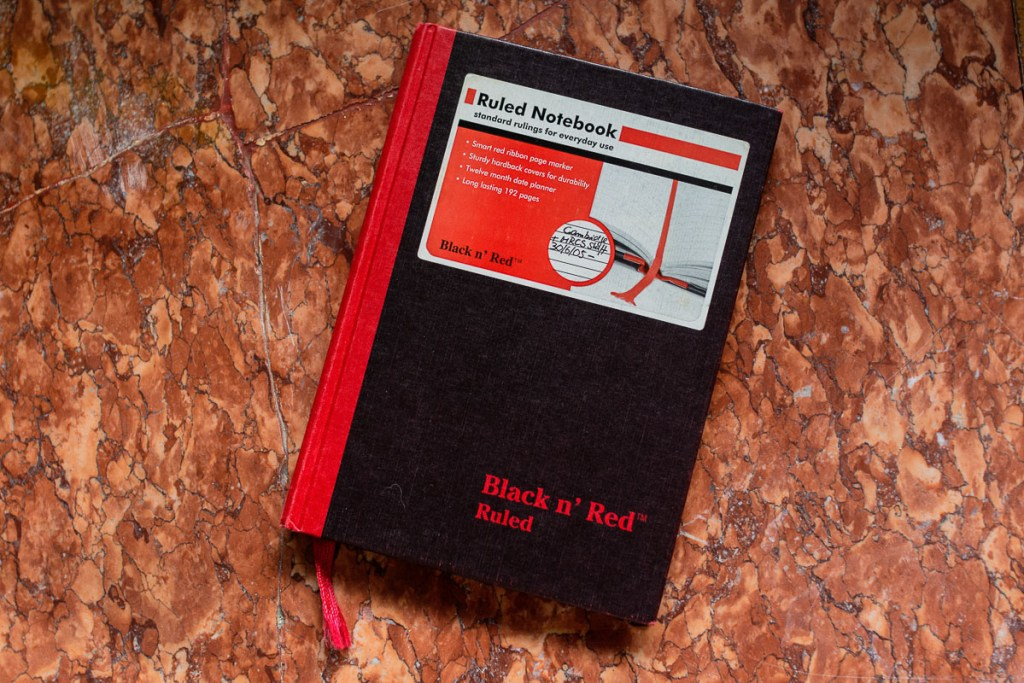 best notebooks for your travel journal Black n'Red Notebook