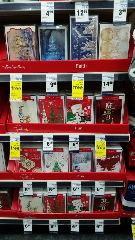 with the bogo offer this makes for a pretty good deal on christmas cards buy one for 699 get one free 349 each