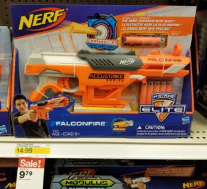 Nerf guns on sale at Target