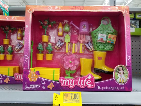 "My Life As Flower Garden Play Set For 18/"" Doll"