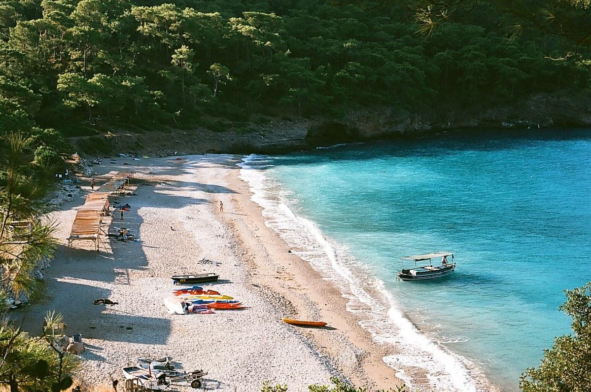 Camping at Kabak Beach.