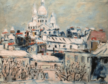 Le Sacre Coeur under the Snow