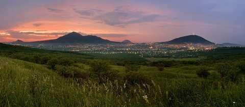 Кавказские Минеральные Воды - небольшие горы-лакколиты