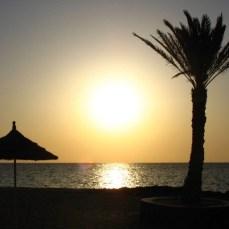Отдых на Джербе, Тунис - закат на Джербе