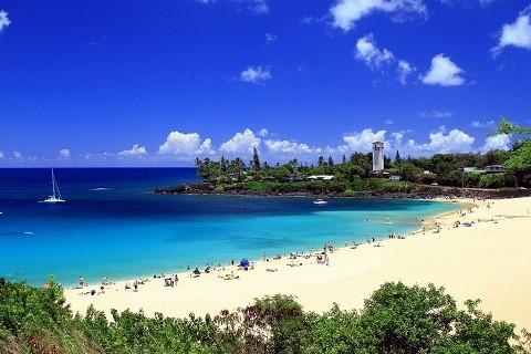 Отдых на Гавайских островах, западное побережье Кауаи, залив Уэймея
