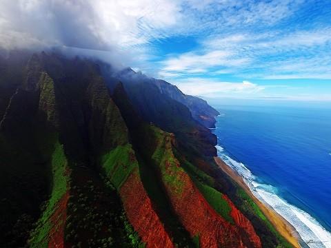 Отдых на Гавайских островах, Кауаи - побережье Напали (Napali)