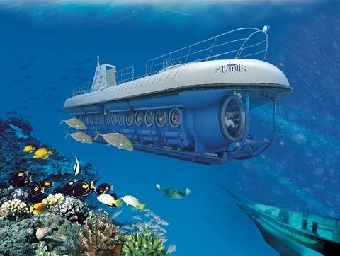 Отдых на Гавайских островах - Мауи, пассажирская субмарина
