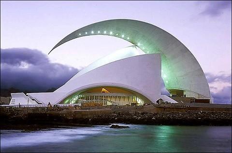 Отдых на острове Тенерифе, концертный зал Аудиторио Тенерифе