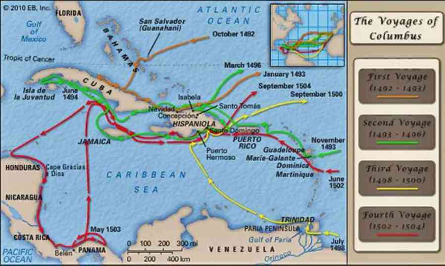 christopher columbus route map » Full HD MAPS Locations - Another ...