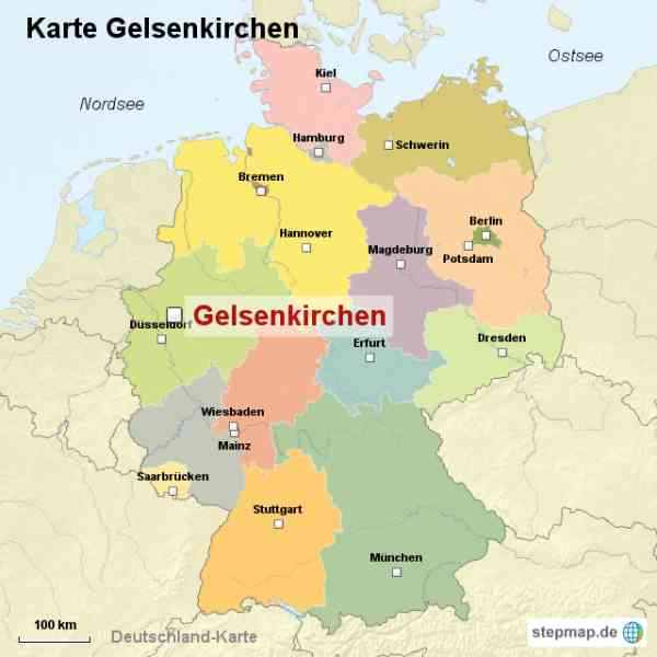 Gelsenkirchen Germany Map.Gelsenkirchen Map Germany