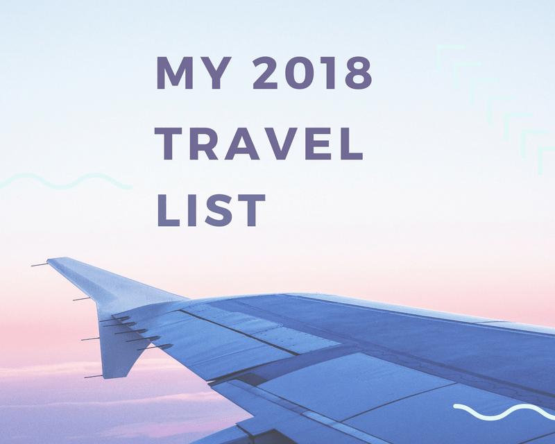 2018 Travel Plans