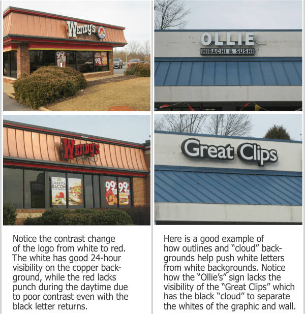 May 2015- General Signage- Problems with Building Mounted Letters contrast exs