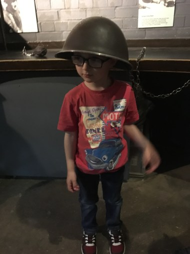 ...and trying on helmets