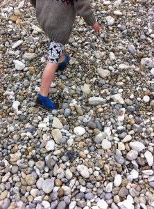 Freddie could even run on the large pebbles!