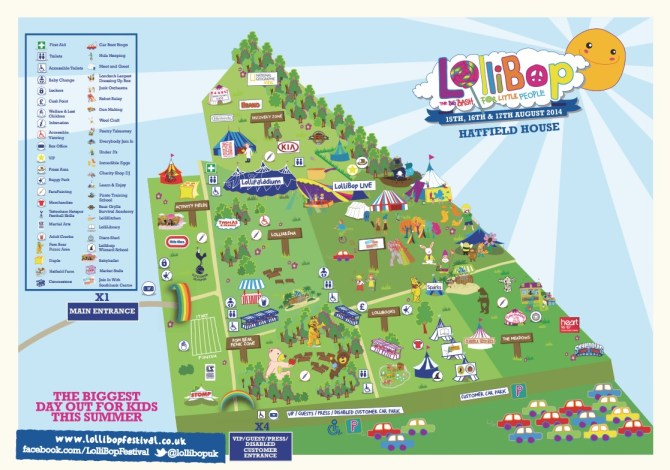 Lollibop 2014 Map