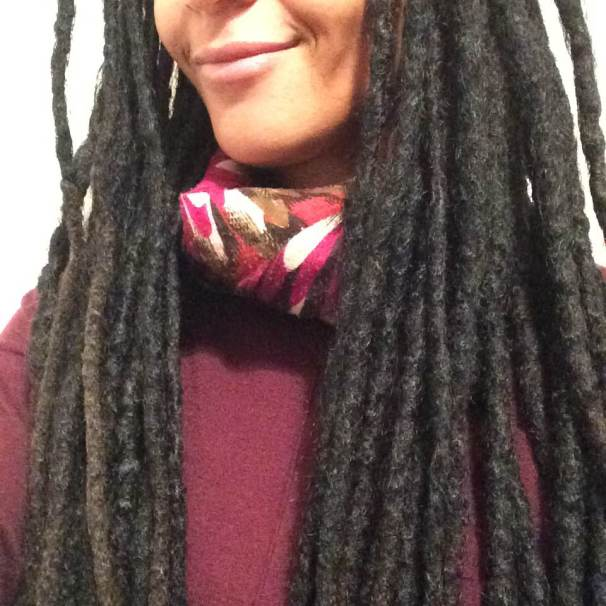 Close up of my semi-freeform locs
