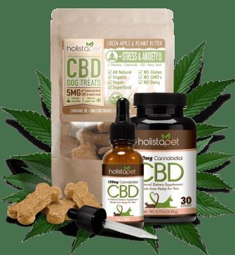 HolistaPet CBD oil for dogs, tinctures, capsules, CBD dog treats