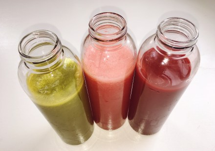 Green juice, watermelon juice, beet juice