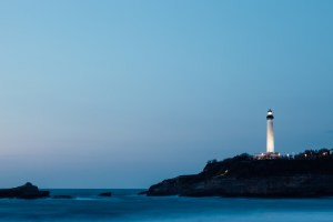 Lighthouse showing direction. Change of the traditional office into a smart office. Change must be designed.