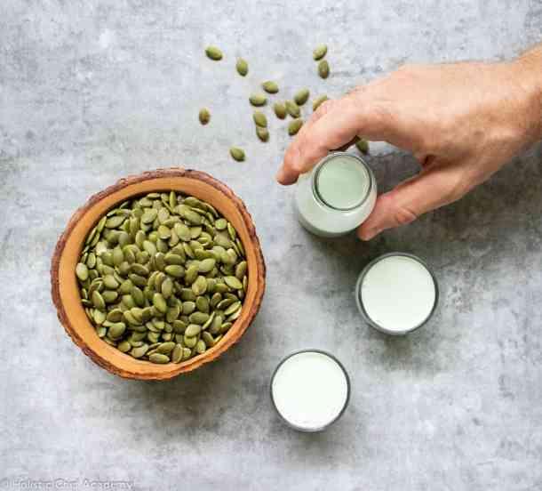 pumpkin seed milk ready to drink