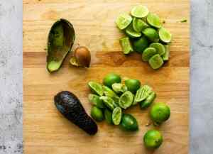 juiced-limes-and-scooped-avocados-for-making-the-filling