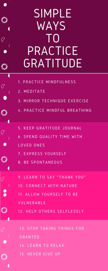 simple ways to practice gratitude