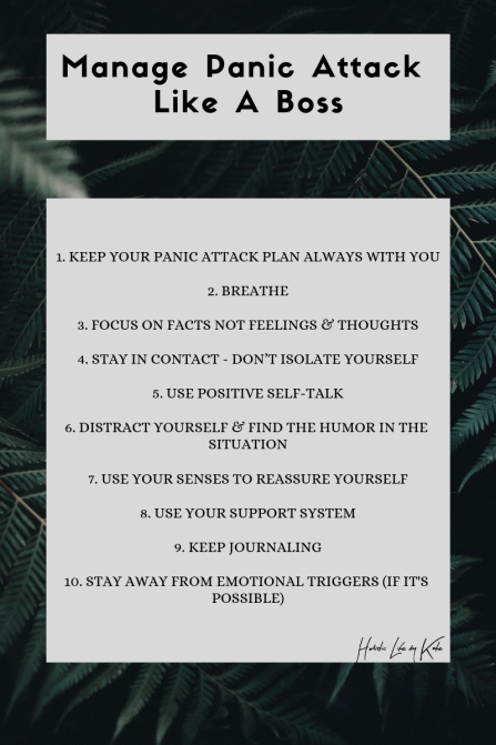 how to manage panic attack