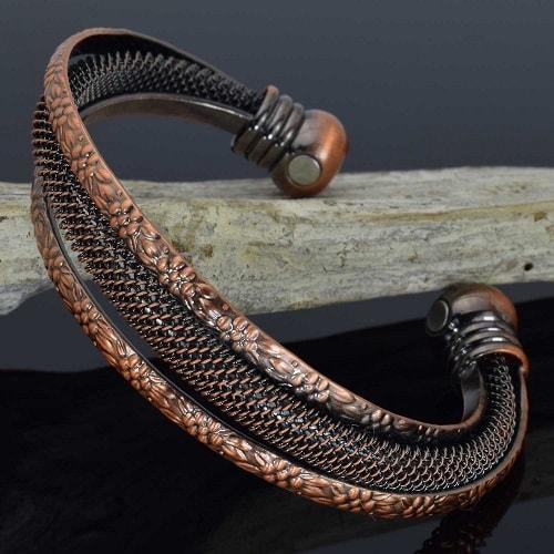 Copper Magnetic Bracelet Cuff for Women