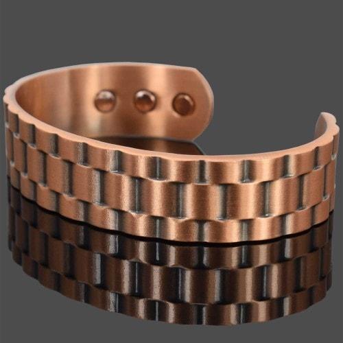 mens copper magnetic bracelet healing bangle armband arthritis