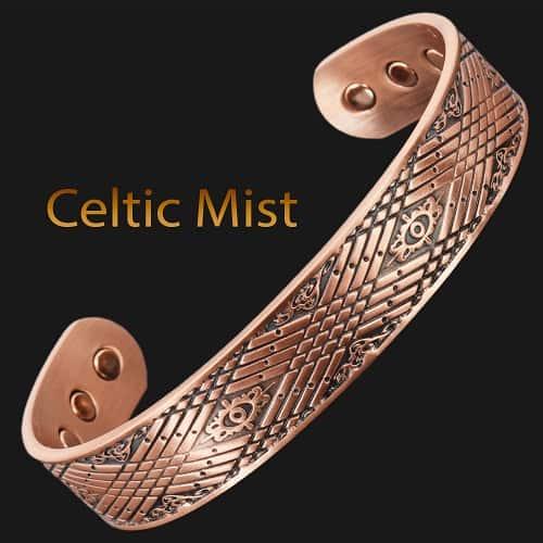 Mens Copper Bracelet for Arthritis Pain Relief Magnetic Therapy Bracelet Bangle – Celtic Mist