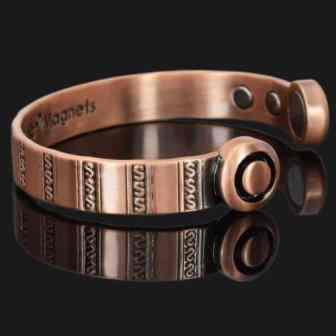 Magnetic Bracelet Copper Bracelet Copper Wristband Magnetic Band Pain Relief Bracelet for Health Healing Therapy Bracelets hsc