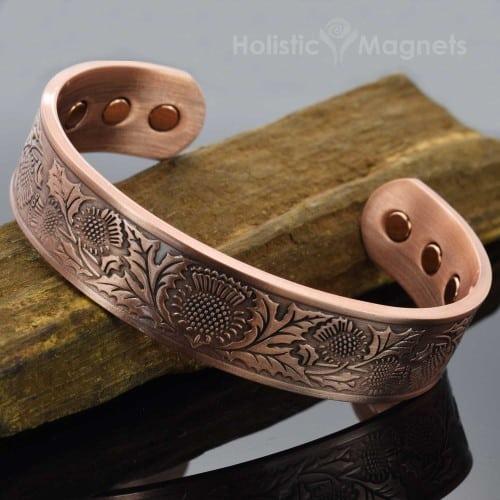 Copper bracelet health magnetic bracelet for health magnets for pain relief copper magnetic bracelet arthritis Scottish thistle