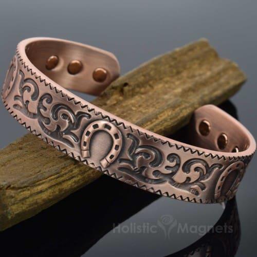 Magnetic Bracelet Copper Bracelet for Arthritis Magnetic Therapy for Pain Relief Health Bracelet Lucky Horseshoe