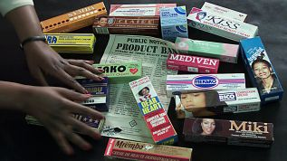 Banned products from the markets in Nairobi, Kenya