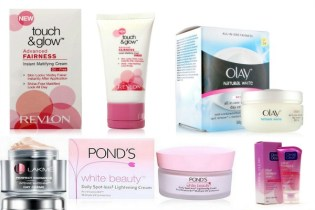 Products by Revlon and Olay purported to have herbal ingredients