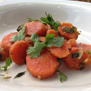 Miso Ginger Glazed Carrots