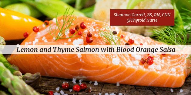 Lemon and Thyme Salmon with Blood Orange Salsa