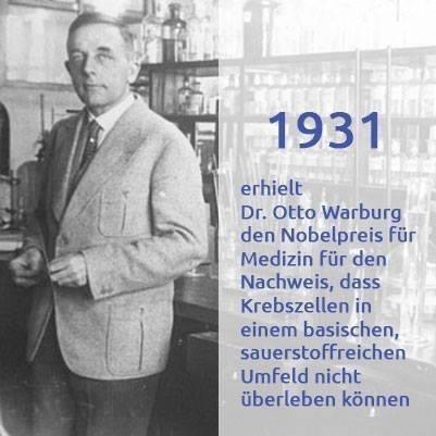 Warburgs-Hypothese nun endlich bewiesen! In einem basischen Körper gibt es keinen Krebs!